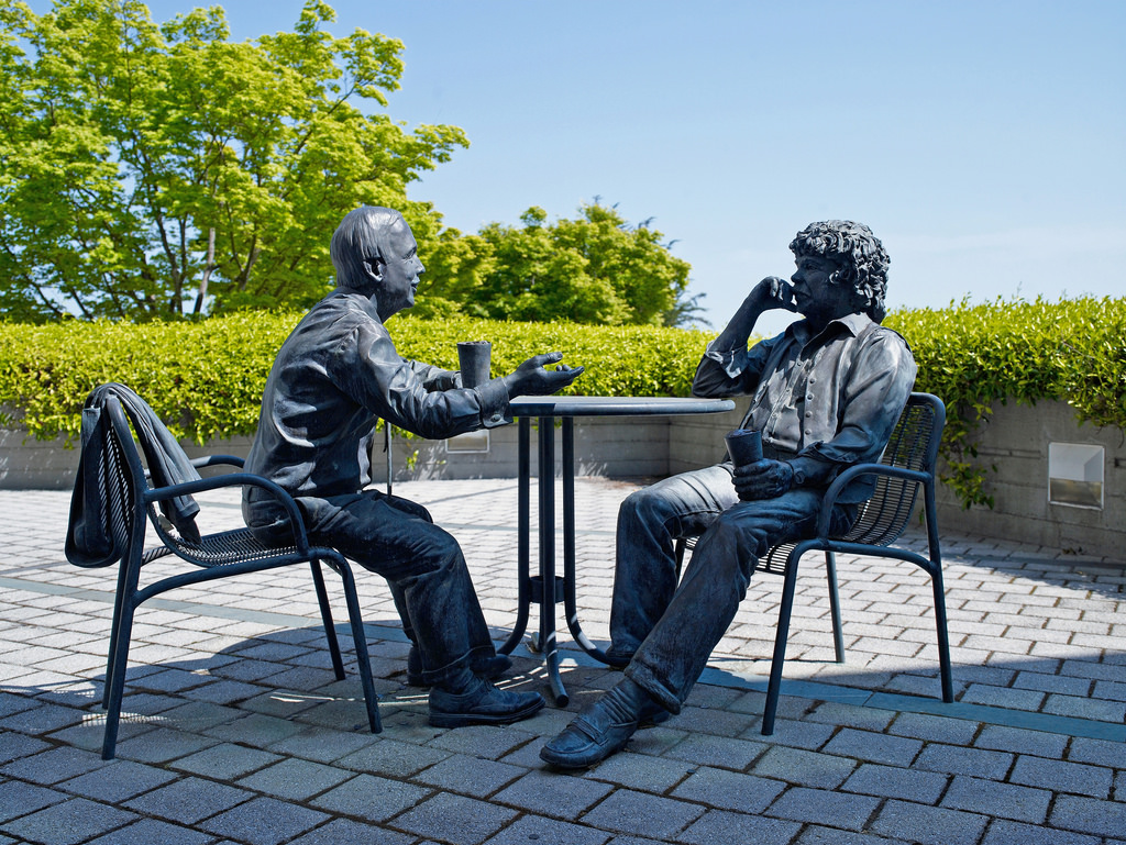 Genentech Founders Statue